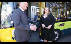 Green is the new yellow for Wellington buses