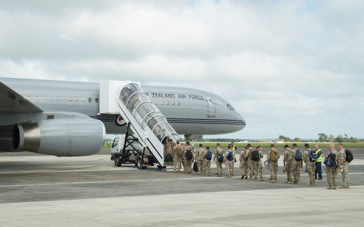NZDF troops deploy to Iraq from Ohakea Air Force Base.