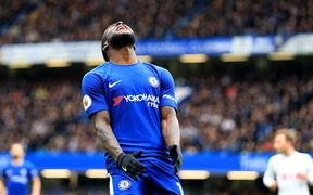 Victor Moses of Chelsea.