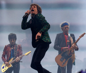 The Rolling Stones at Glastonbury last year.