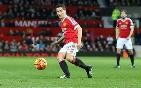 Ander Herrera of Manchester United plays a through ball.