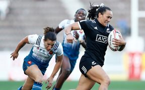New Zealand's Portia Woodman in action against France at the HSBC Kitakyushu Sevens.