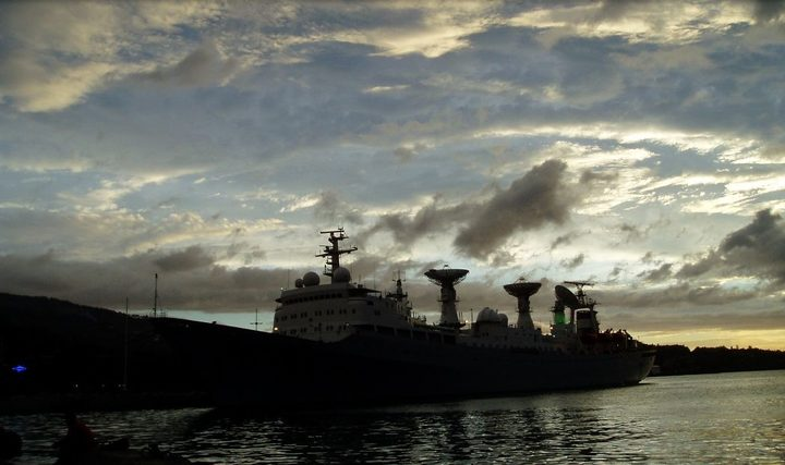 Chinese satellite tracking ship moored at Papeete port in 2004