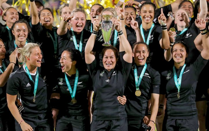 New Zealand Black Ferns winning the 2017 Women's Rugby World Cup final