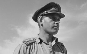 Portrait of Captain Haddon Vivian Donald, Military Cross, World War II. Taken at Maadi, Egypt, on 23 October 1942 by an official photographer.