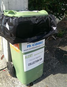 MPI has provided bins for disposing of fruit and vegetable waste.