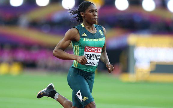 South African athlete Caster Semenya.
