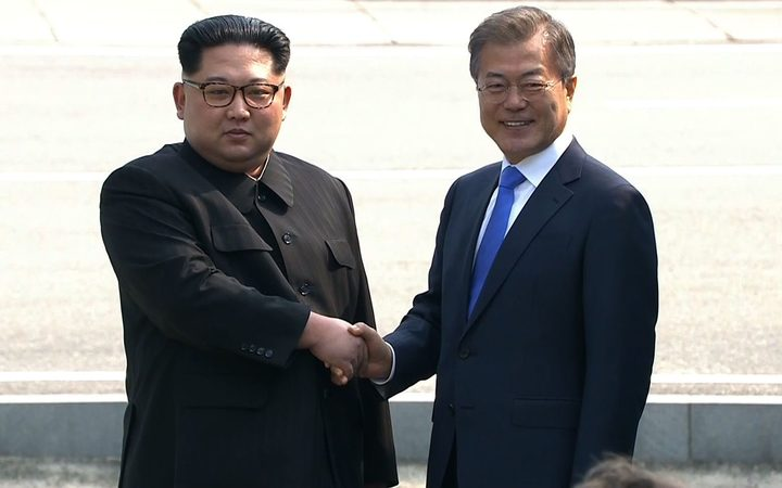 Trump welcomes historic North, South Korea meeting