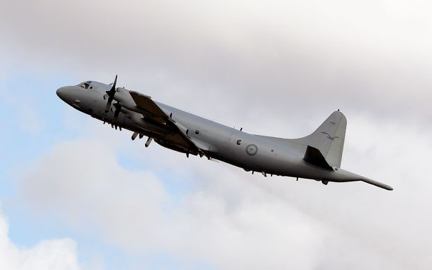 An Australian Air Force Orion was one of up to a dozen planes helping with the search on Sunday.