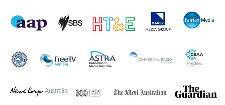 14 of the biggest names in the Australian news media scene have united to oppose tougher national security laws.