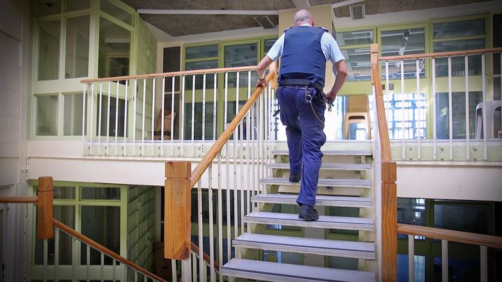 John on the landing at the Paremoremo drug treatment unit