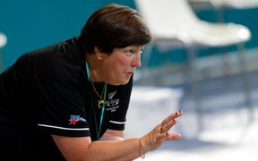 Swimming coach Jan Cameron
