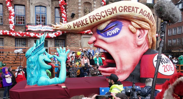 An anti-Trump float in Dusseldorf, 2016.