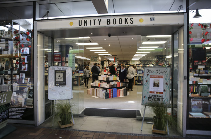 Unity Books in Wellington.