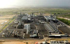 Exxon Mobil PNG's LNG plant near Port Moresby