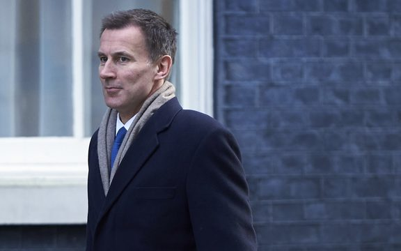 Britain's Health and Social Care Secretary Jeremy Hunt arrives in Downing street for the weekly cabinet meeting on February 6, 2018 in London.