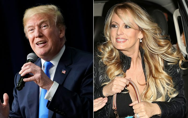 US President Donald Trump and actress Stephanie Clifford, who uses the stage name Stormy Daniels.