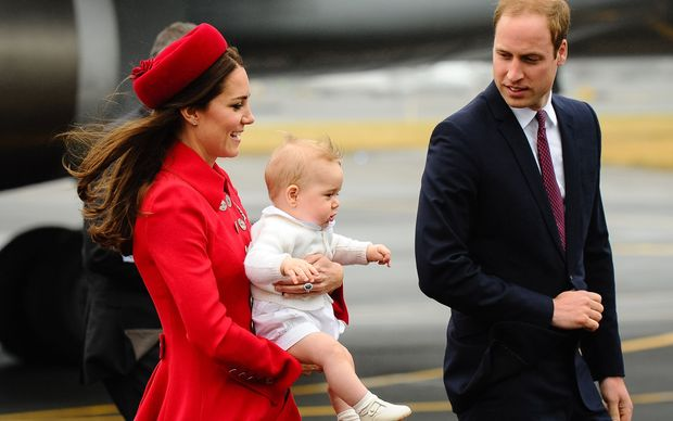 The Duke and Duchess with Prince George arrived in Wellington on Monday.