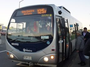 The 125X at Westgate's interim bus hub