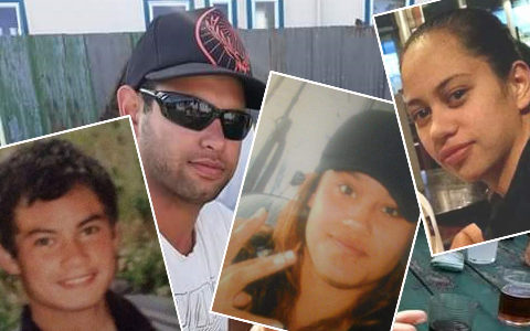 Four of Haley Grace-Hollis' siblings took their own lives over a decade. From left: Shane Grace, LJ Grace, Fianza Grace and Anahera Grace.