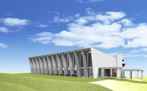 An artist's impression of the Pacific Climate Change Centre