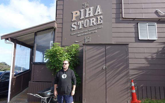 The Piha Store owner Peter Chapman.