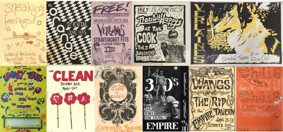 Dunedin Sound posters in the Hocken Collection.