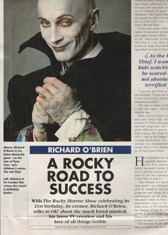 Richard O'Brien photo taken by Patti Boyd in OK magazine
