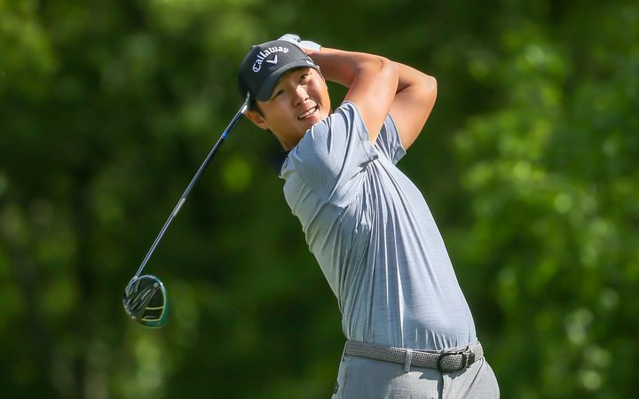 A roller-coaster second round has shot Danny Lee up the leader-board at the Players Championship