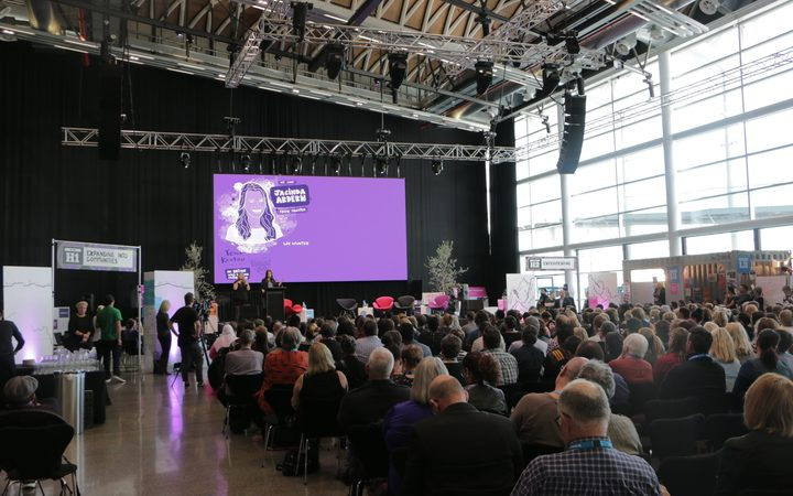 The crowd at the Education Summit in Auckland this afternoon.