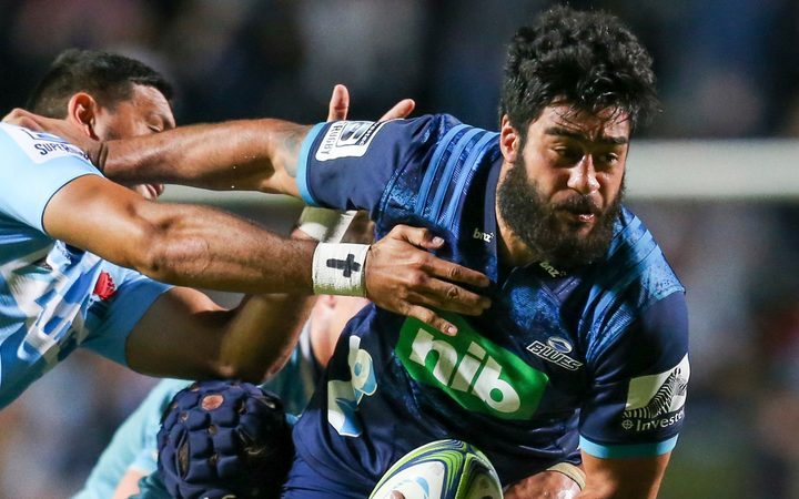 Akira Ioane in action for the Blues.