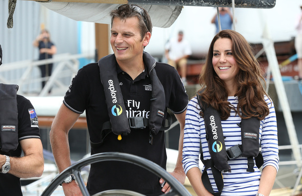 The Duchess of Cambridge teamed up with Dean Barker.