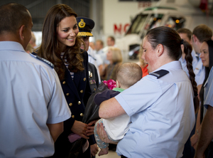 The Duchess met Allison Smith and her five-month-old son Ryder.