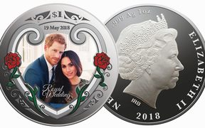 NZ Post has issued a set of stamps and a coin to mark the marriage of Prince Harry and Meghan Markle.