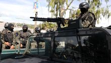 Military police on patrol in Tegucigalpa in October.
