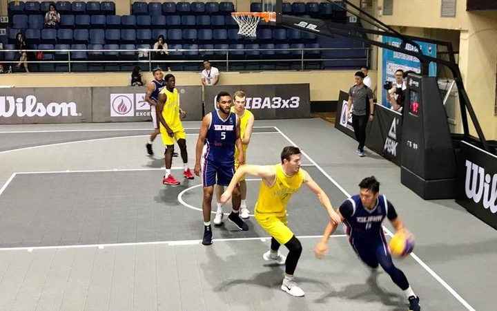 Guam taking on Australia at the FIBA 3x3 Asia Cup Qualifier.