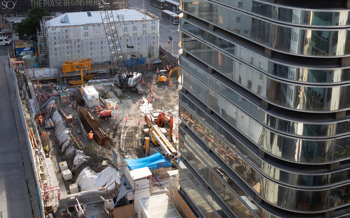 The construction site for Seascape Apartments.