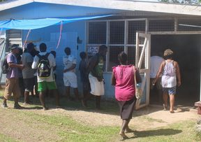 Voting in the Western Province of Solomon Islands
