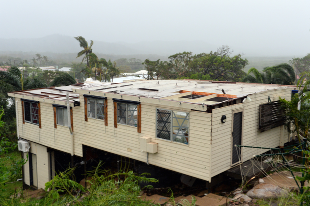 Houses in Cooktown were damaged.