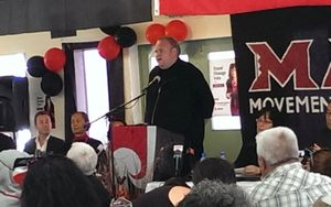 Kim Dotcom addressed party members at their AGM in Rotorua on Saturday.