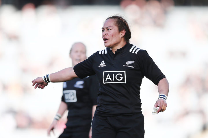 Fiao'o Fa'amausili of New Zealand in action.