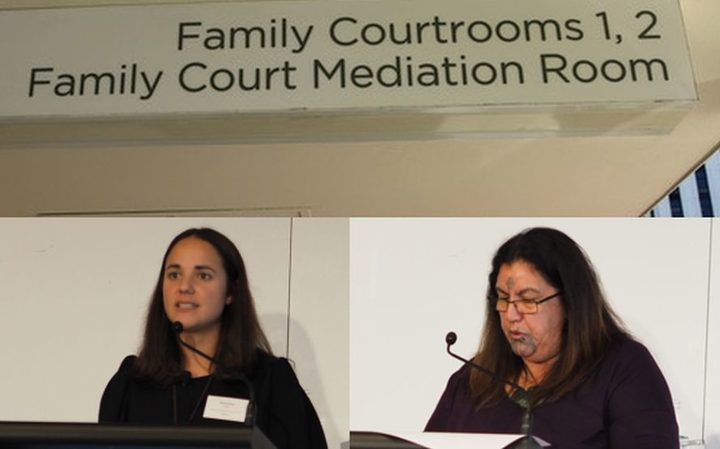 Kahui Legal senior associate Horiana Irwin-Easthope (left) and Waikato University Associate Professor Leonie Pihama spoke about issues with the Family Court at a workshop of whakapapa and whanau in public policy.