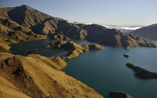 Lake Benmore is part of Meridan's Waitaki hydro scheme.