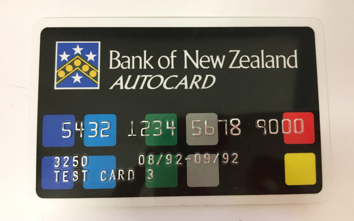 An image of one of the very first Bank of New Zealand EFTPOS cards.