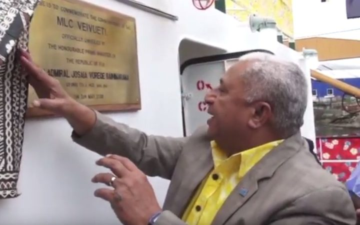 Fiji PM, Frank Bainimarama, launches the Veivueti hospital ship
