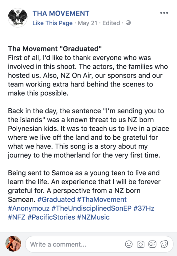 Tha Movement's FaceBook post