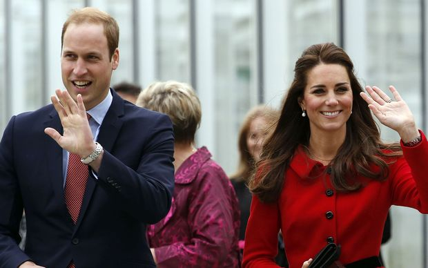 Prince William and Catherine at the Christchurch Botanic Gardens.