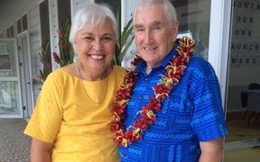 Luamanuvao Winnie Laban and her husband Dr Peter Swain