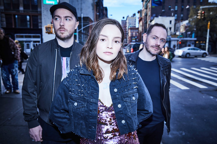 Chvrches' Martin Doherty, Lauren Mayberry, and Iain Cook.