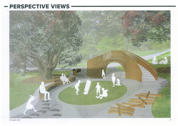 An illustration of what the playground will look like.